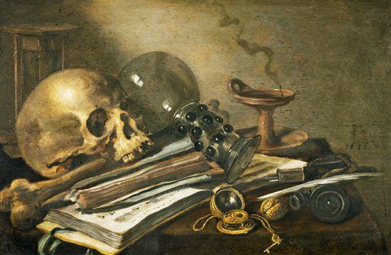 Vanitas quiet life - Pieter Claesz as art print or hand painted oil.