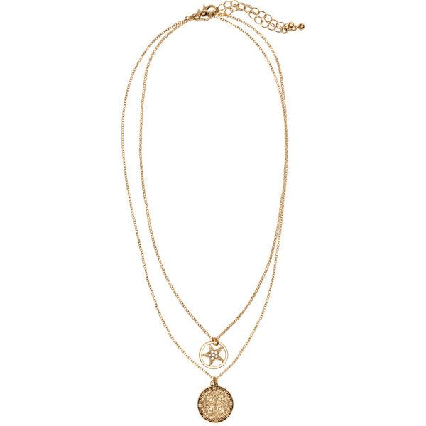 H&M 2-pack necklaces ($4.98) ❤ liked on Polyvore featuring jewelry, necklaces, accessories, fillers, gold, short necklaces, adjustable necklace, h&m jewelry, pendant jewelry and h&m necklace