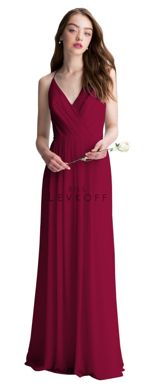 Color: Cranberry -- Bill Levkoff Bridesmaid Dress Style 1402 - Bridesmaid Dresses
