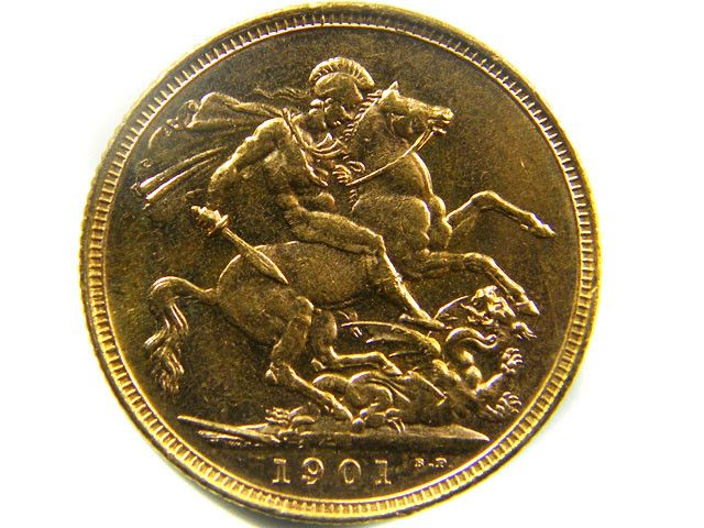 1901 RARE UNCIRCULATED VEIL  SOVERIGN  B.P   CO 458 gold coin uk, england gold coins,Guinea gold sovereign