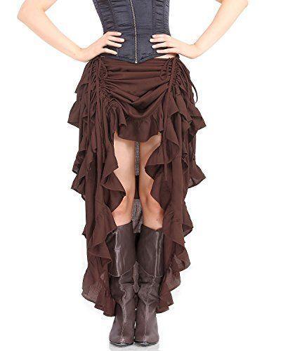 ThePirateDressing Steampunk Victorian Gothic Punk Vampire Show Girl Skirt C1367…