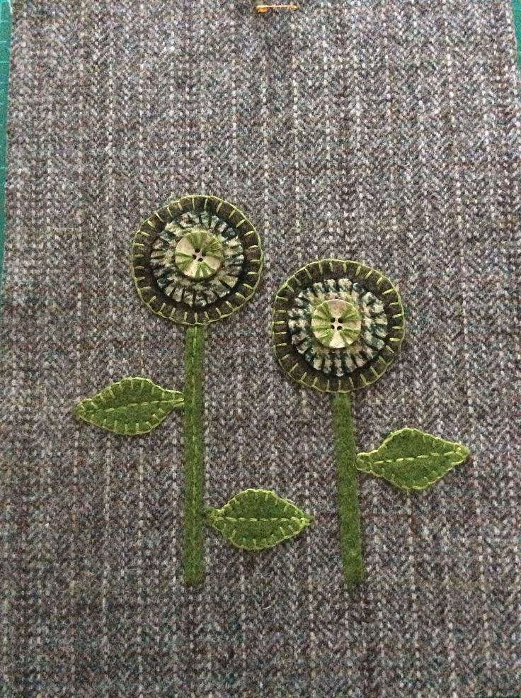 Embroidery on a tablet sleeve.