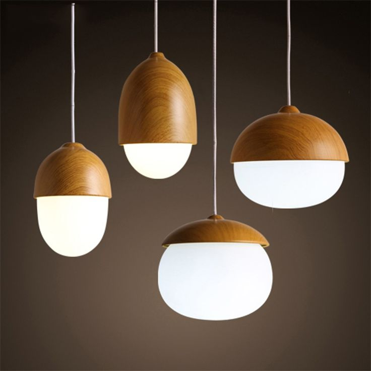 Lighting art deco picture more detailed picture about american country pendant light creative wood pendant lamp glass ball hanging lamp nordic designer