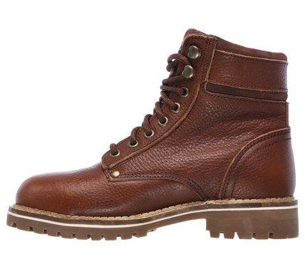 Skechers Work Women's Brooten Memory Foam Steel Toe Work Boots (Dark Brown)