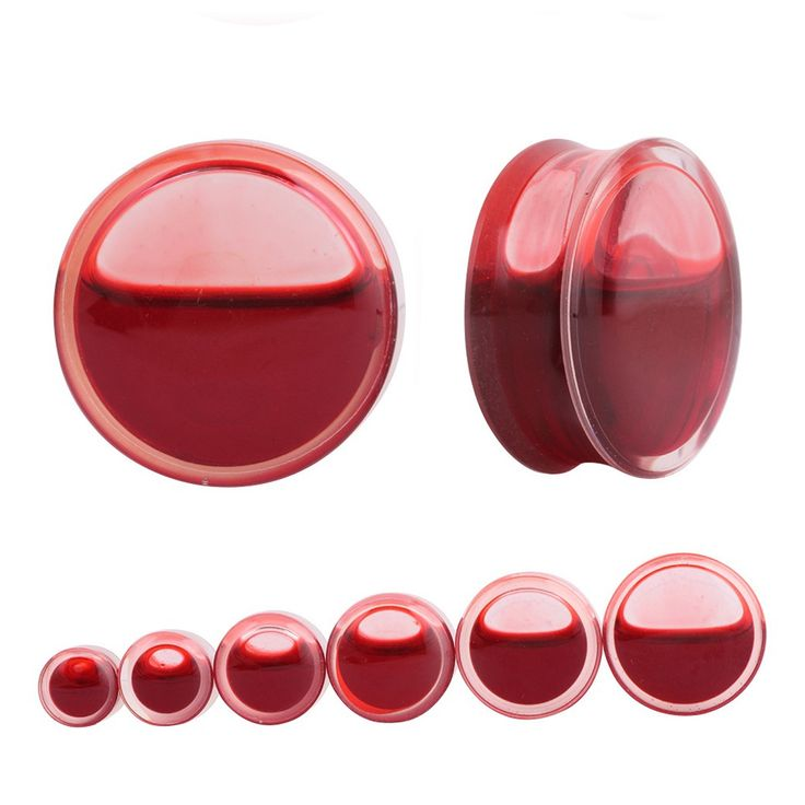 Spectacular Size available mm mm mm mm mm mm mm mm mm Sold as pcs lot Color Red Gothic Ear Gauge Plugs and Tunnels Pinterest