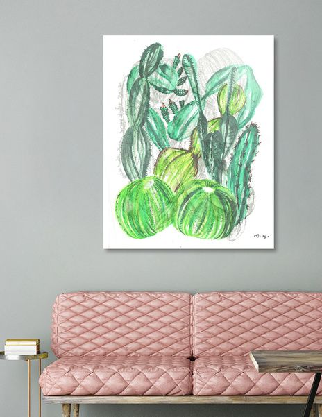 Discover «Cactusia», Limited Edition Acrylic Glass Print by Sanziana Toma - From $99 - Curioos