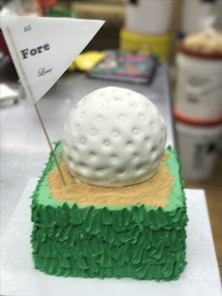 Golf call grooms cake