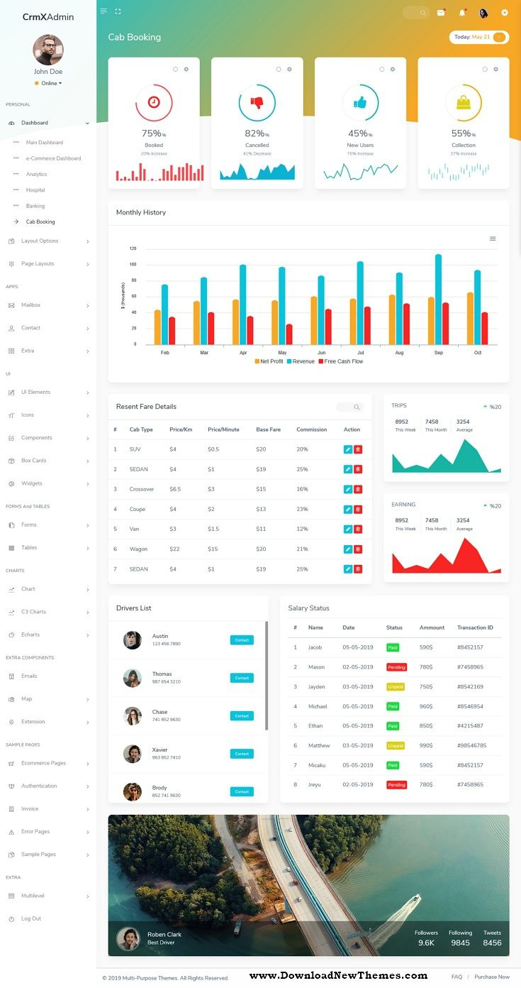 Crmx Bootstrap Admin Dashboard Template User Interface Dashboard Template User Interface Templates