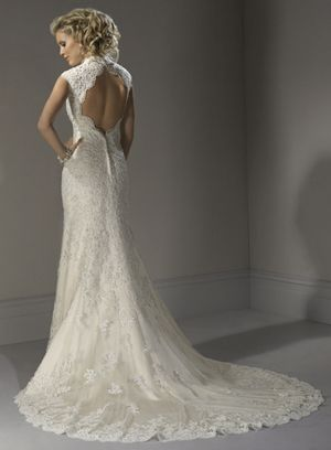 Maggie Sottero - Bernadette   A daring back ... not sure I am that brave.