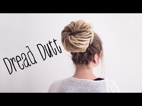 Dreadfrisuren: DREAD DUTT - DREAD BUN - Lina Larsen - YouTube