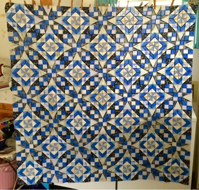 HAND PIECING. .. Celtic Solstice quilt top.  Stunning!