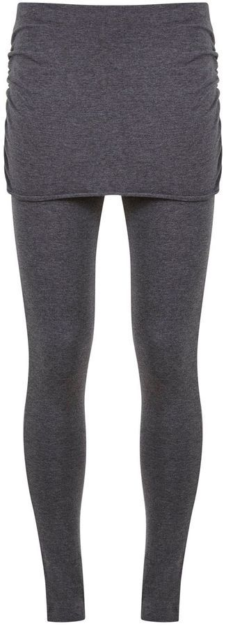 Charcoal Skirted Legging - leggings with a built in skirt? easy autumn layering