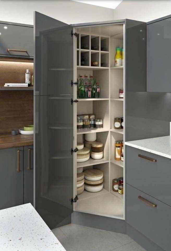 43 Handy Corner Storage Ideas That Will Maximize Your Space Modern Kitchen Cabinet Design Kitchen Cabinet Design Modern Kitchen Design