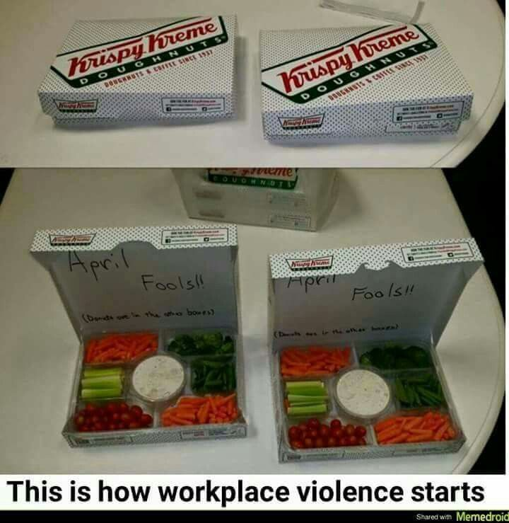 This is how work place violence occurs! So doing this next year.