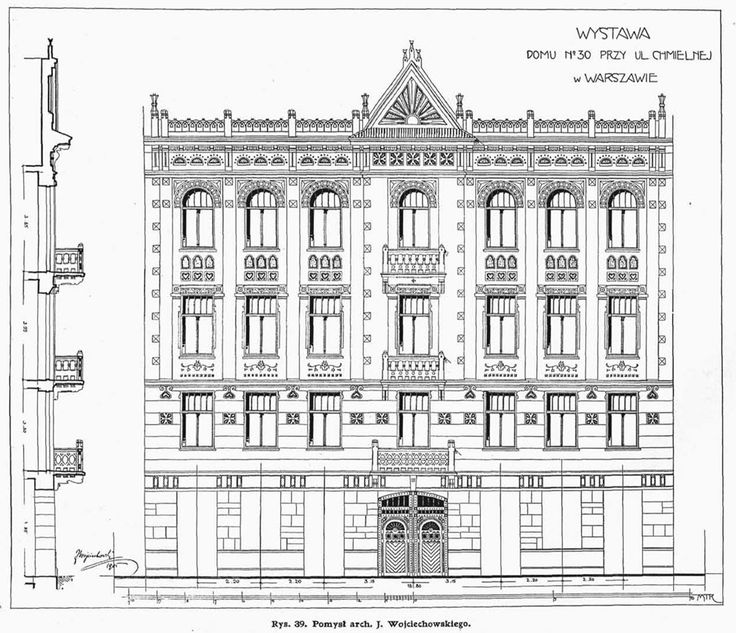 149 best projects images on pinterest architectural drawings tenement house design for katarzyna buchbinder at 30 chmielna st in warsaw facade drawing malvernweather Choice Image