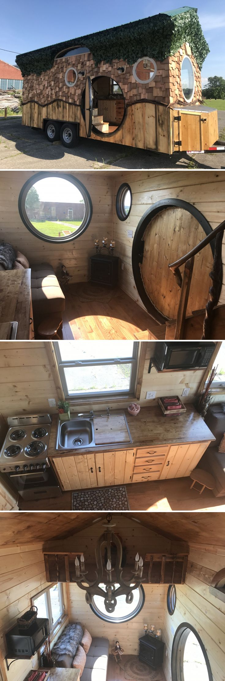 Lord of the Rings fans can now stay in a hobbit-themed tiny house at the WeeCasa Tiny Home Resort in Lyons, CO -- complete with circular door and windows!