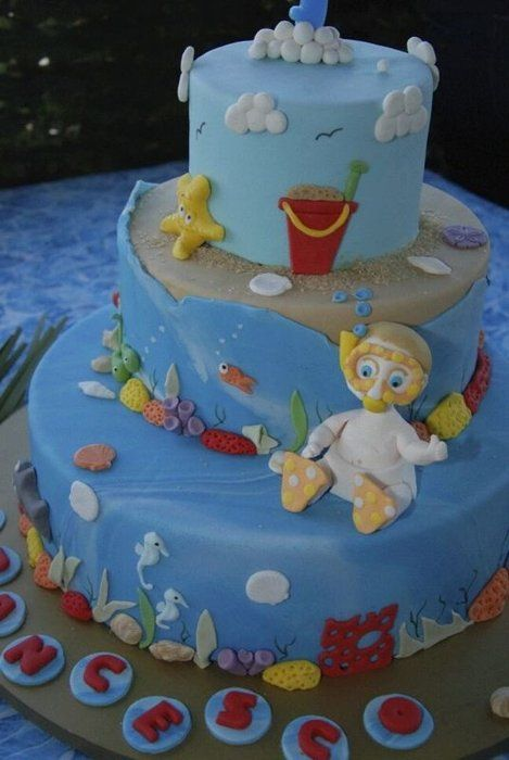 Sea cake - by NataliaPicci @ CakesDecor.com - cake decorating website