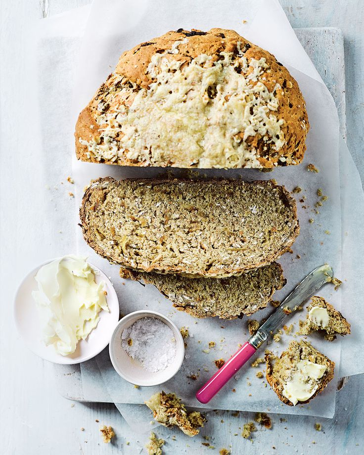 Why have a cheese and onion in your sandwich when you could have cheese and onion soda bread? This oaty, wholemeal loaf would make a lovely addition to any picnic or special lunch.