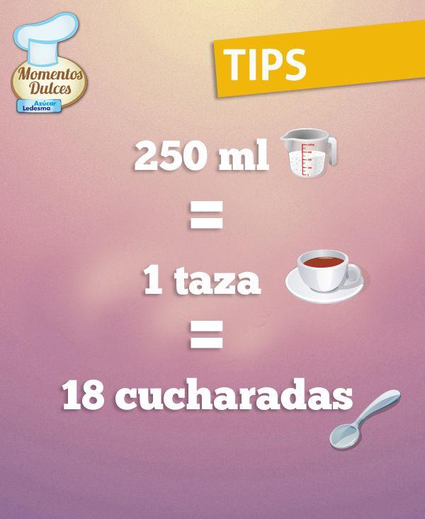 #TIPS de Medidas y Equivalencias https://www.pinterest.com/soled88/tips-y-recetas-de-cocina/