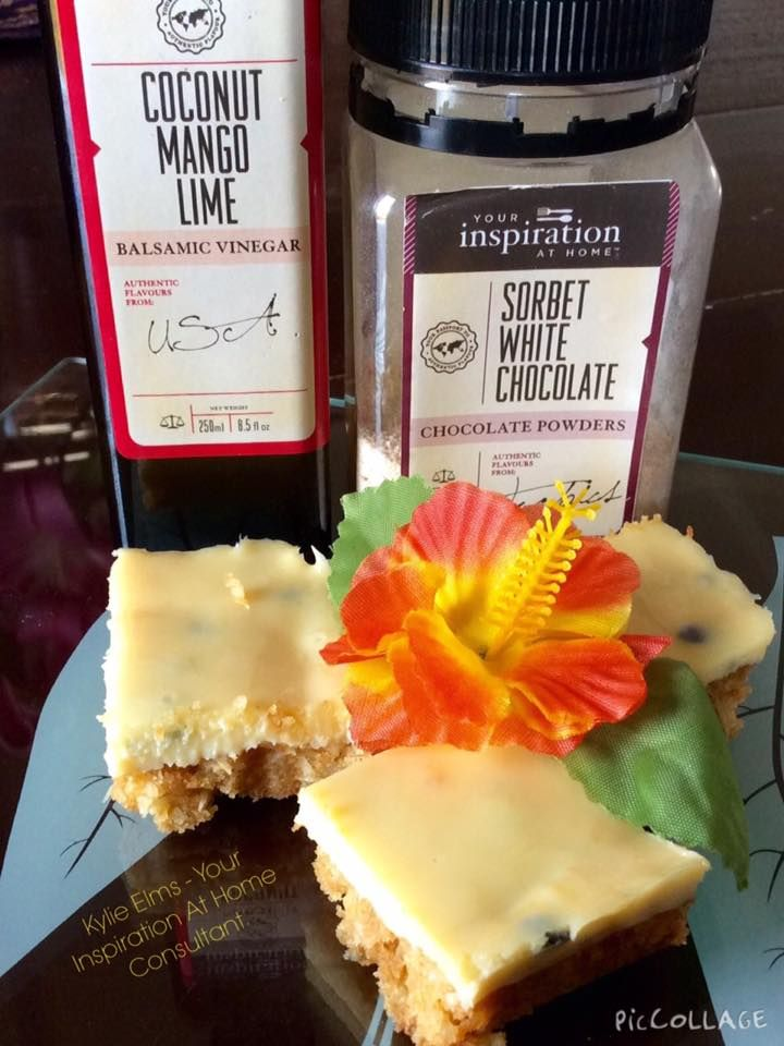 YIAH Coconut Mango Lime and Passionfruit Slice