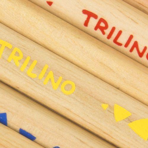 Herlitz Trilino 6 darabos, natúr, vastag háromszög alakú színes ceruza készlet - Színes ceruzák Ft Ár 639