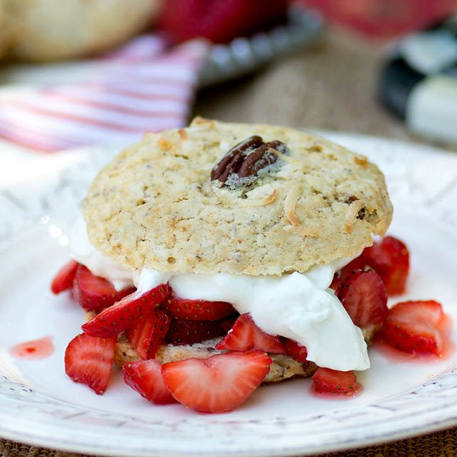 Savoring Time in the Kitchen: Pecan and Coconut Strawberry Shortcakes