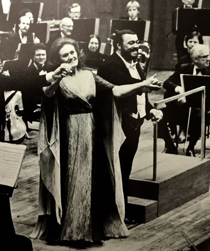 "Dame Joan Sutherland and Luciano Pavarotti in concert, ""Live From Lincoln Center"" at Avery Fisher Hall, January 1979."