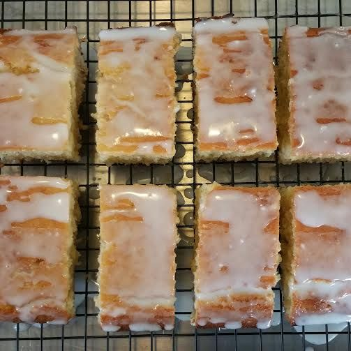 10 Second Coconut Slice with Lemon Drizzle