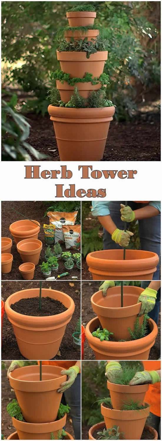 Herb Tower Ideas
