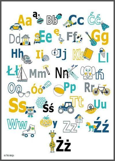 Alfabet niebieski