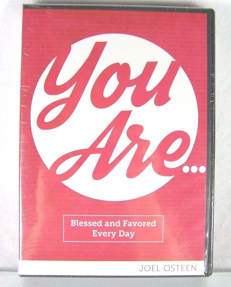 """#Pastor Joel #Osteen #Christian #Ministries """"You Are Blessed and Favored Everyday"""" six (6) pc. #religious & #spiritual #audio #CD CD-ROM & #video #DVD DVD-ROM teaching #disc set/series with #sermon message, black clam-shell case & original red paper cover art insert, brand new & unused in clear plastic protective sealed shrink-wrap packaging…"""