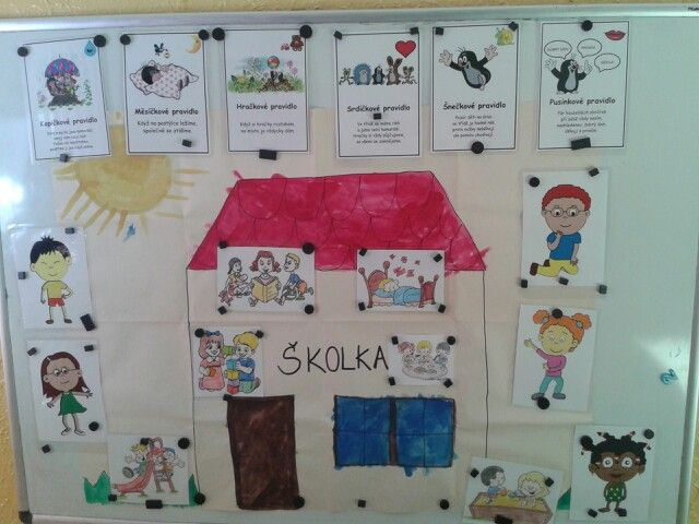 Skolka a pravidla Začátek školního roku a učíme se pravidla, co děláme ve školce, ...