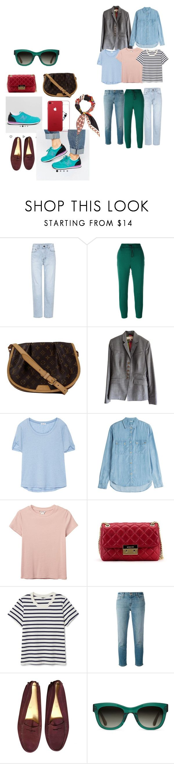 """Каникулы 1"" by sasha-grusha on Polyvore featuring мода, Yves Saint Laurent, Golden Goose, Louis Vuitton, Paul Smith, Splendid, 7 For All Mankind, Monki, Michael Kors и J Brand"