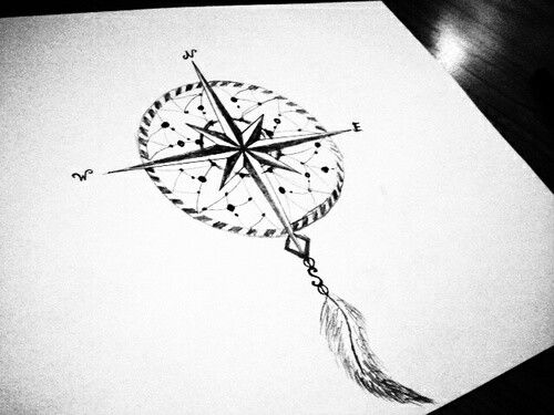 Love this one! Compass and dreamcatcher!