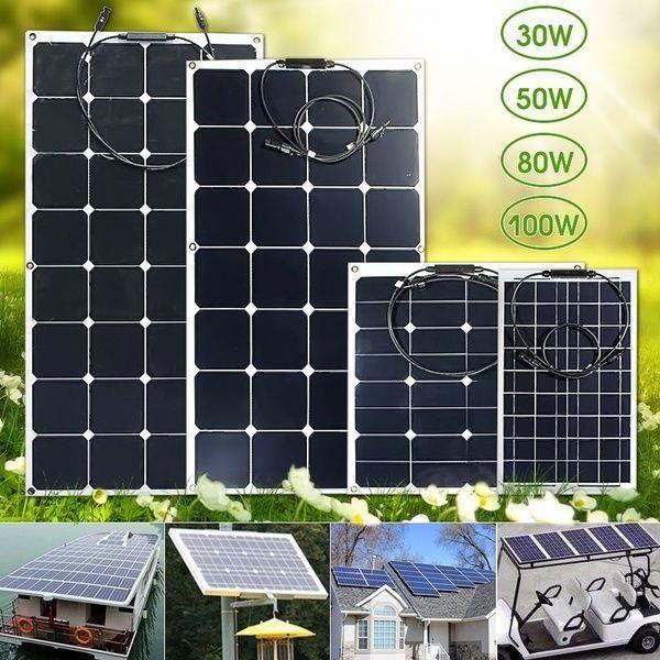 25w 30 40 50w 80w 100w 12v 18v Solar Panel Monocrystalline Solar Cell Water Resistant Poly Semi Flexible Solar In 2020 Best Solar Panels Solar Panels Solar Technology
