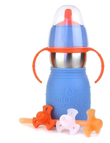 Kid Basix Safe Sippy! This amazing!!! This straw moves so you can get all of the drink!!!!!