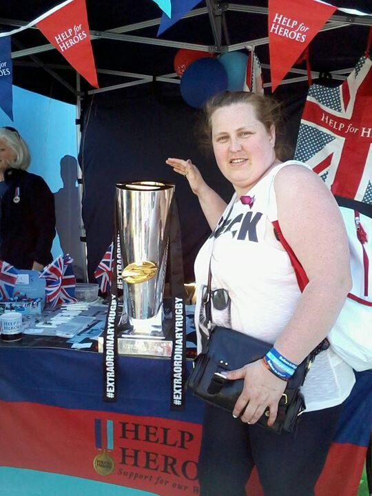 Me with the super league trophy in 2013