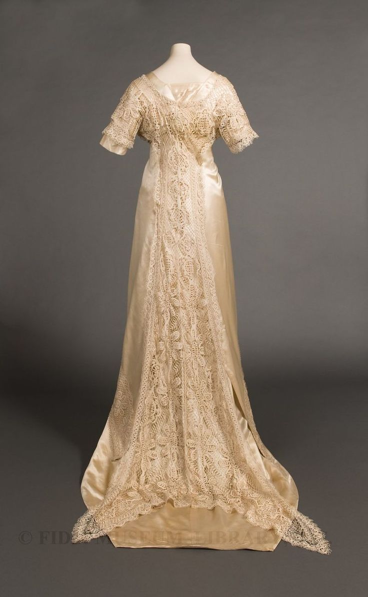 Wedding gown worn by Mary Peterson Wells (married in the Philippines) 1910 or 1911