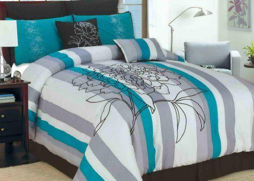 1000 images about teal and black bedding sets on pinterest. Black Bedroom Furniture Sets. Home Design Ideas