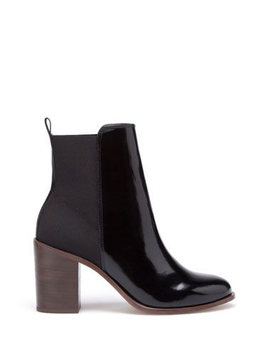 High heel elasticated ankle boots