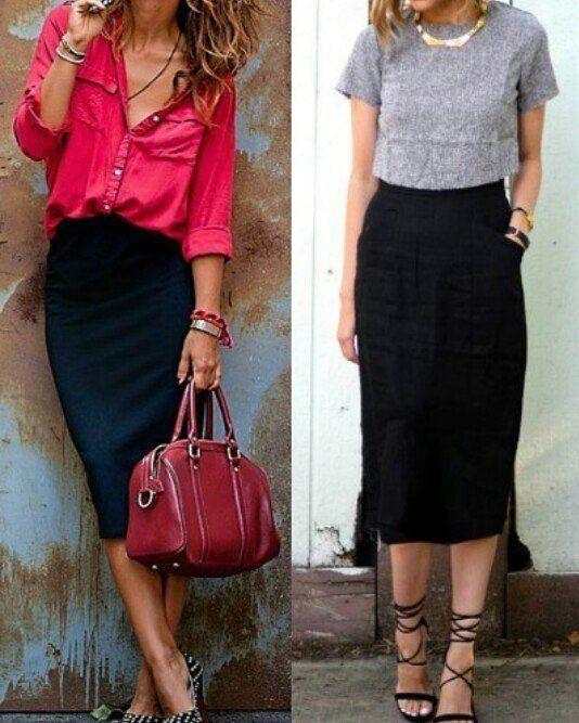 d2f3149172 A elegância da saia lapis  lookdodia  moda  estilo  saialapis ...