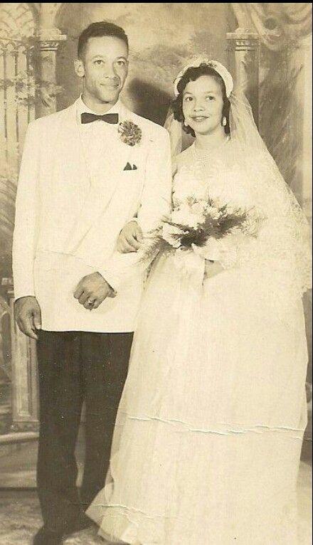 Creole newlyweds, late 1940s