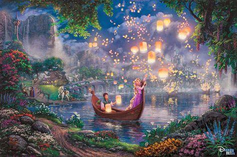 #Enredados de #Disney, #ilustracion de #ThomasKinkade