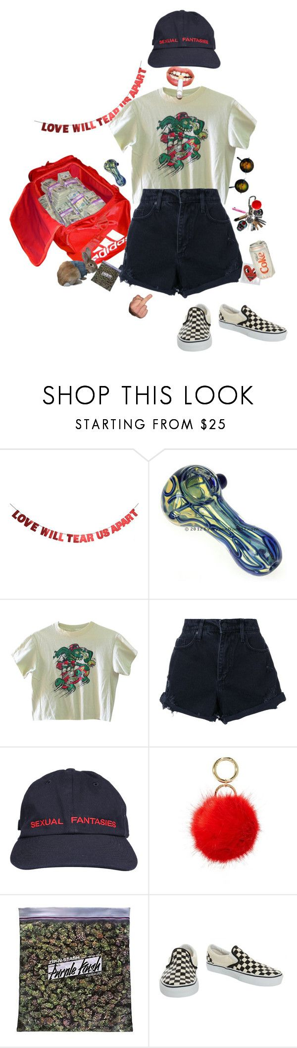 """""""Love and drugs"""" by frankooliiiii ❤ liked on Polyvore featuring WALL, Nobody Denim, Iphoria and Vans"""