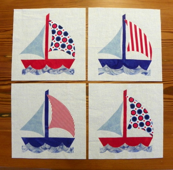 Quilt Block Set  Sail Away by MyMaisieDesigns on Etsy, $20.00