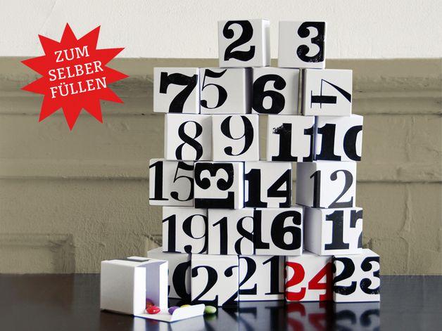 Adventskalender - Adventskalender – Kisten zum Selbstfüllen - ein Designerstück von sperlingB bei DaWanda