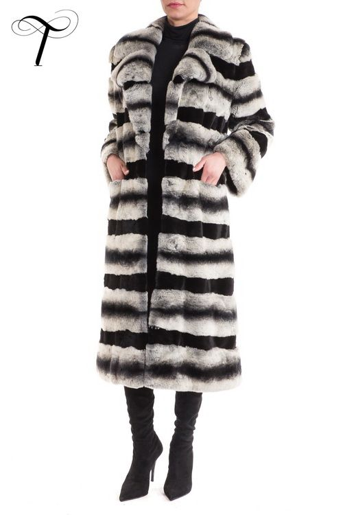 Toutountzis Furs /REX AND SHEARED WEASEL LONG COAT WITH LEATHER BELT  This extremely #elegant and ultimately #classic long coat is designed  to be the epitome of #sophistication for cold #winter days. Crafted in layers of rex #fur alternating with layers of black sheared weasel #fur, it is cut in a straight line with a notch collar and front slot pockets.Equally chic for casual outings as well as evening events over any outfit, it will be a worthy, timeless investment.