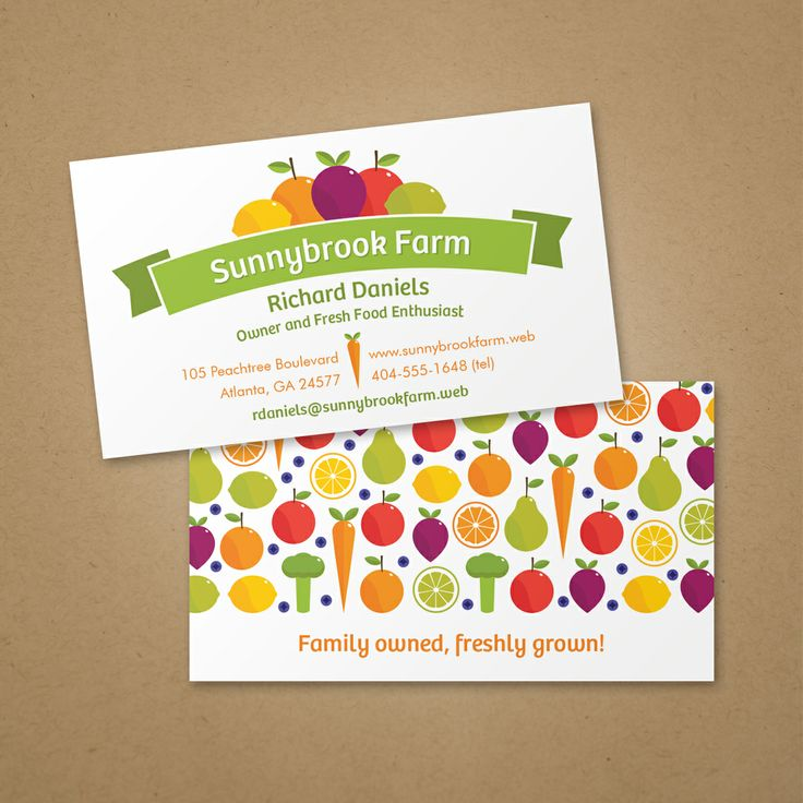 19 best business card ideas images on pinterest business cards fruit and veggie business card vistaprint accmission Gallery