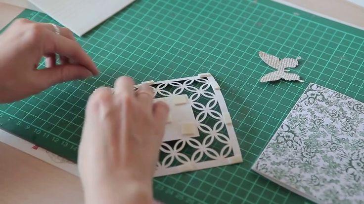 DIY: открытка на день рождения. Используем горячий эмбоссинг!