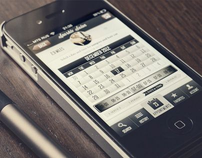 Appointment application for iPhone